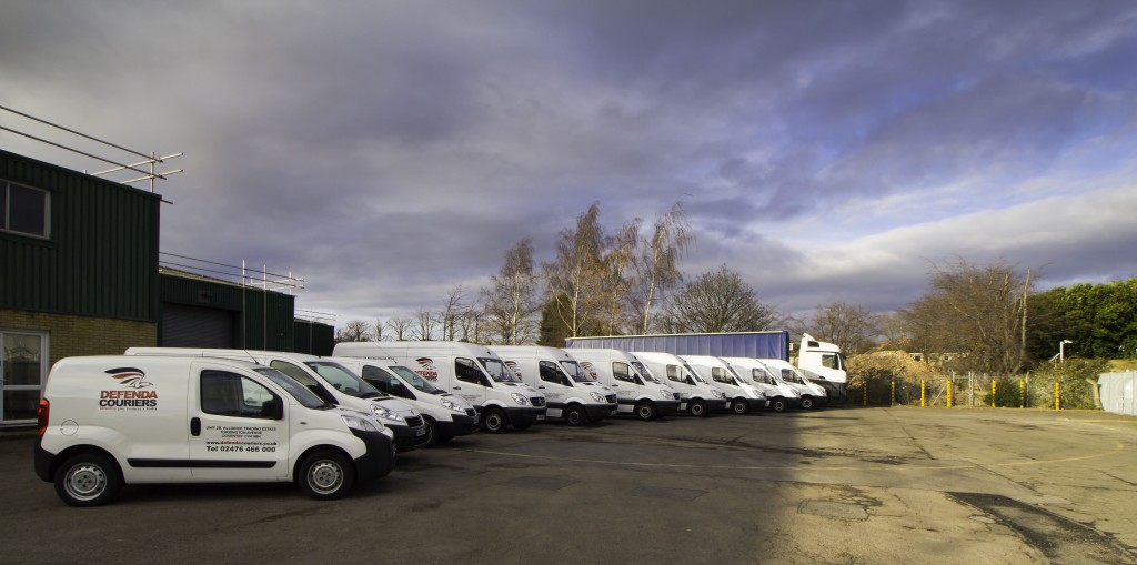 A selection of the vehicles available at Leamington Couriers